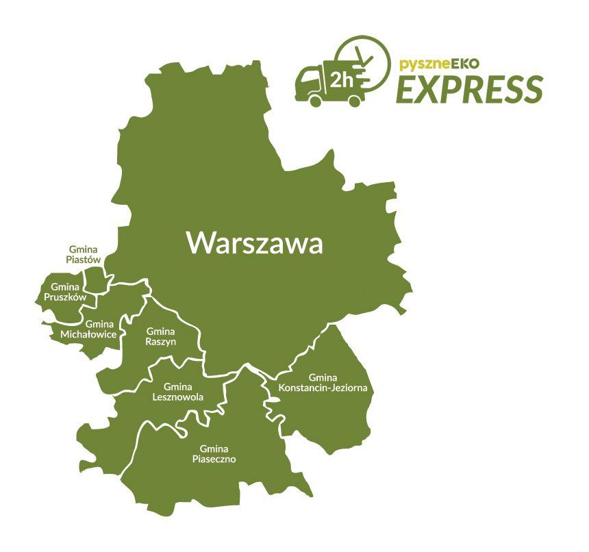 Mapa Dostaw Pyszneeko Express