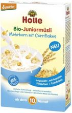 HOLLE - Kaszka Junior Muesli Wieloziarnista z Corn Flakes 250g EKO