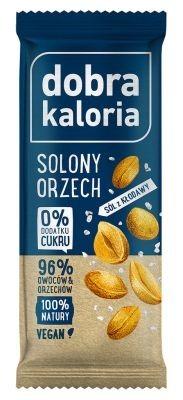 Baton Owocowy Solony Orzech 35g - Dobra Kaloria - PyszneEko.pl